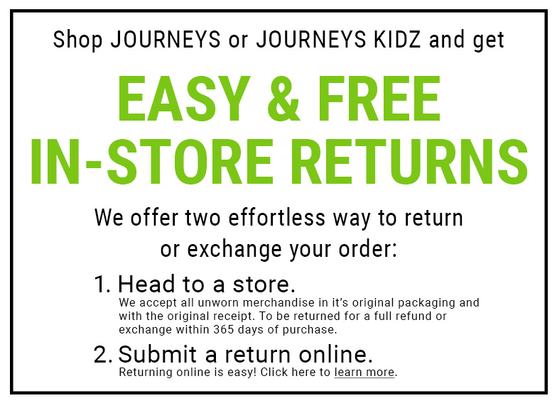Easy & Free In-Store Returns