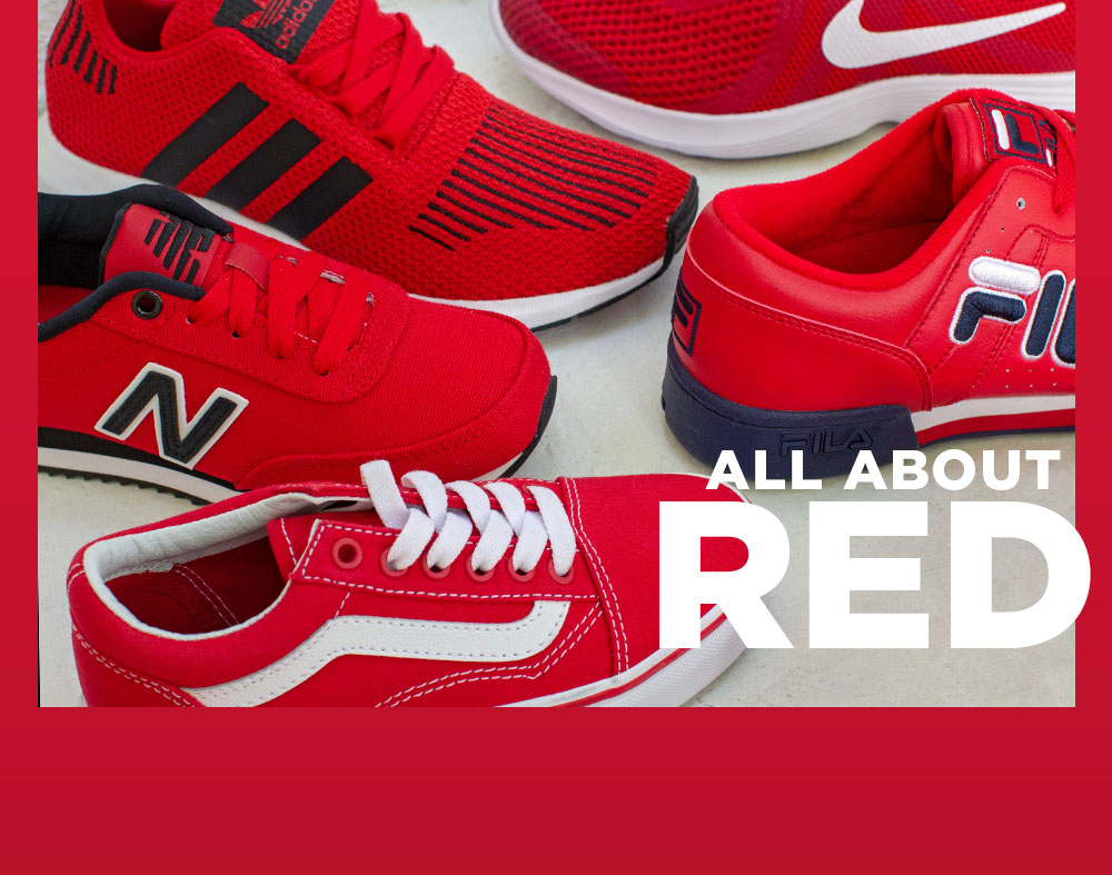 Shop Red Sneakers