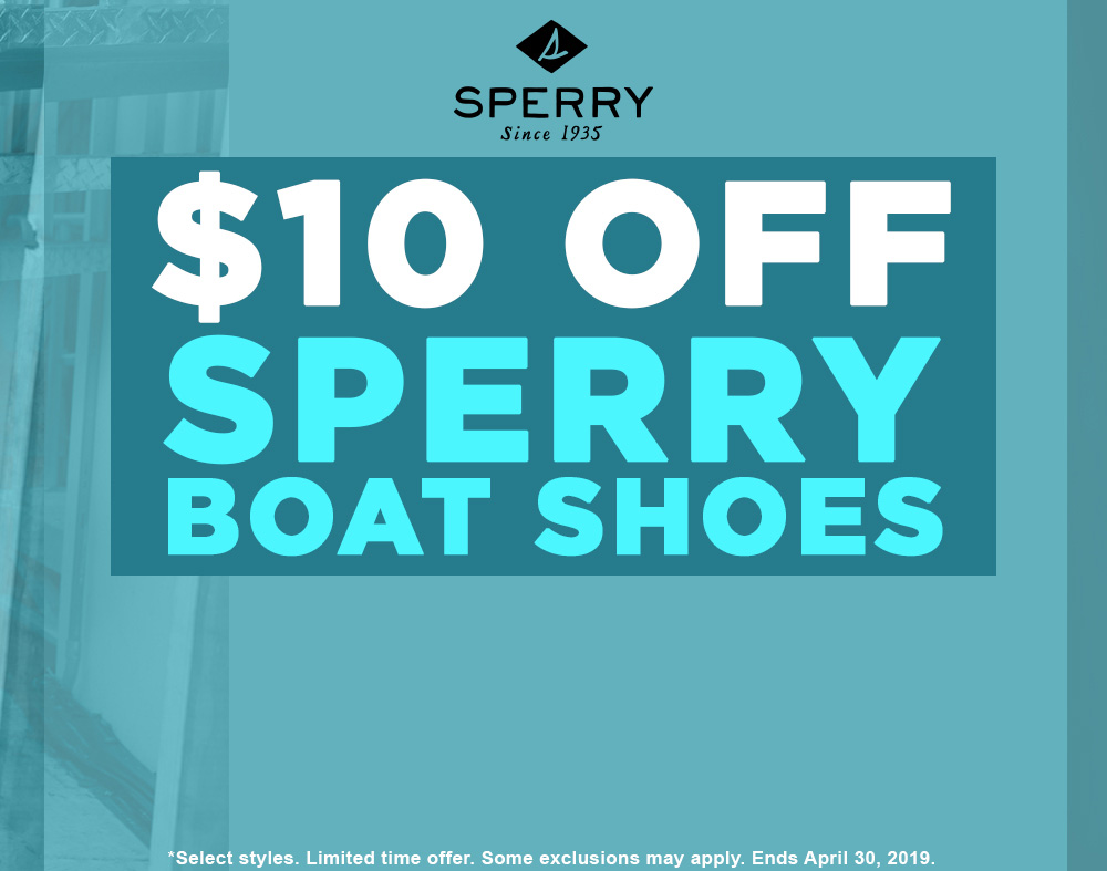$10 off Sperry Boat Shoes