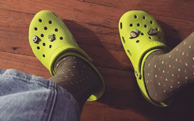 Read about Crocks and Socks