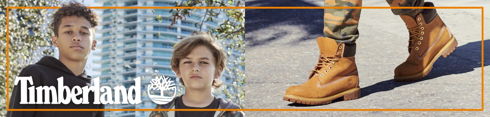 Timberland brand header image