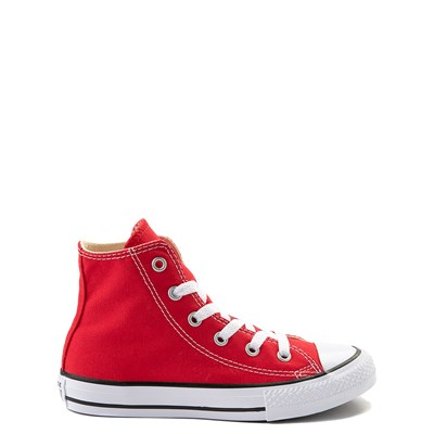 Main view of Youth Red Converse Chuck Taylor All Star Hi Sneaker