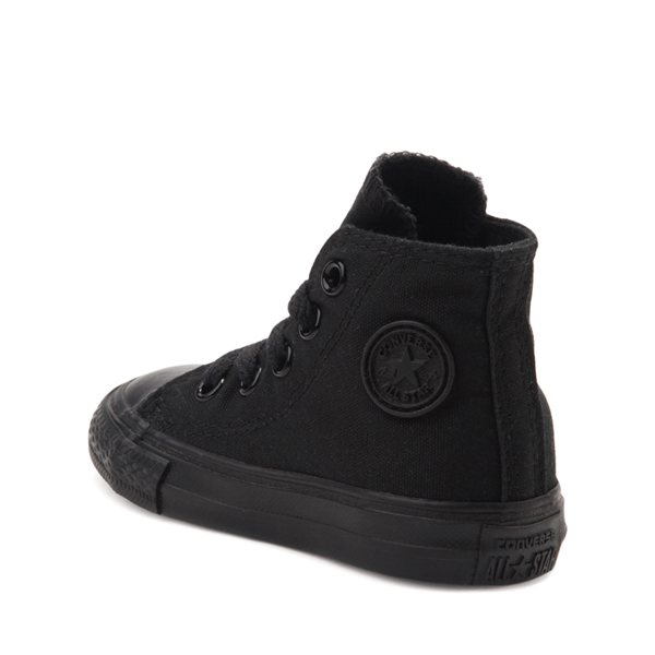 alternate view Converse Chuck Taylor All Star Hi Sneaker - Baby / Toddler - Black MonochromeALT1