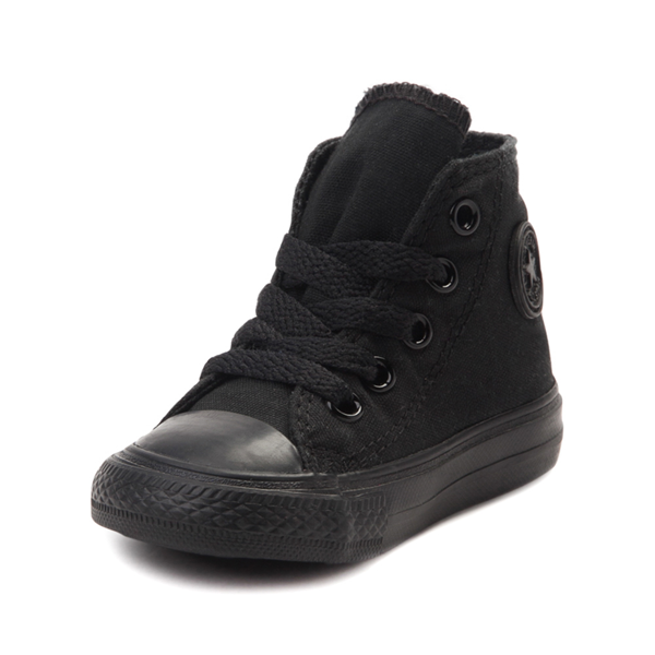 alternate view Converse Chuck Taylor All Star Hi Sneaker - Baby / Toddler - Black MonochromeALT2