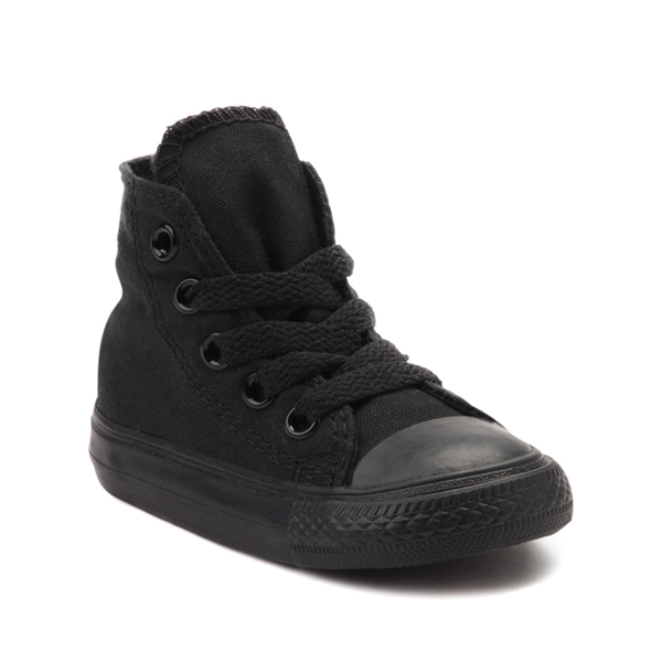 alternate view Converse Chuck Taylor All Star Hi Sneaker - Baby / Toddler - Black MonochromeALT5