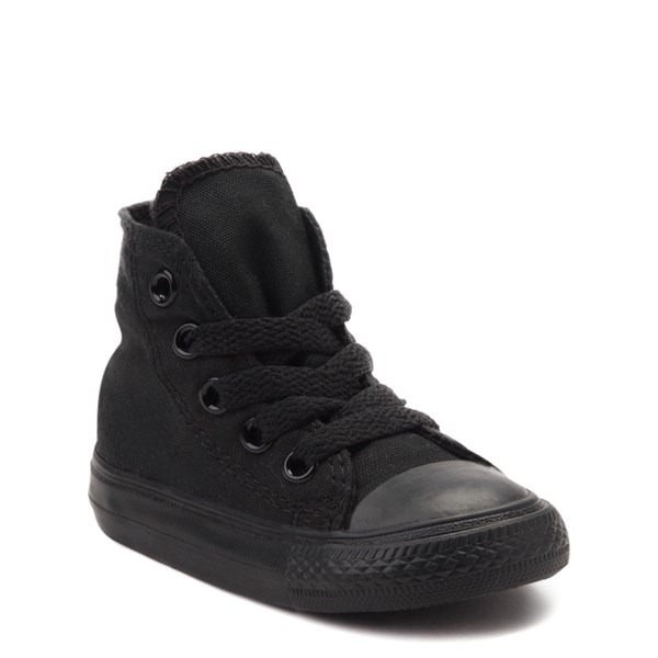 alternate view Converse Chuck Taylor All Star Hi Mono Sneaker - Baby / Toddler - BlackALT1