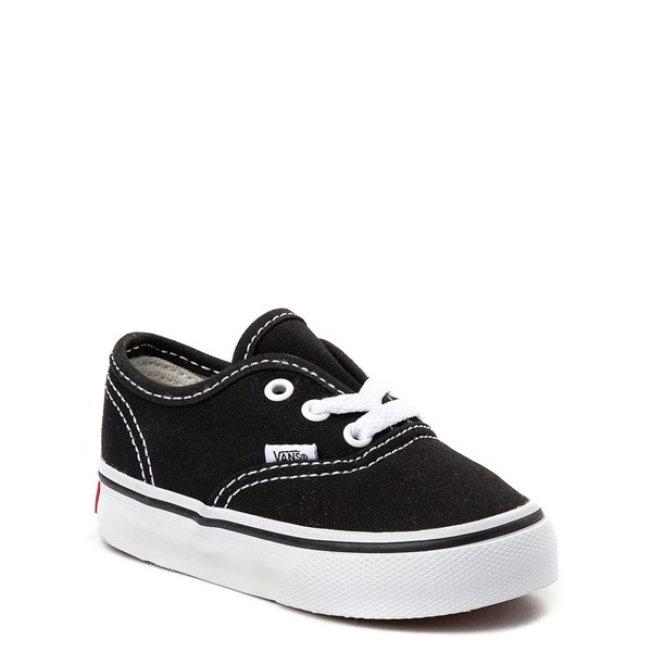 alternate view Vans Authentic Skate Shoe - Baby / Toddler - BlackALT1