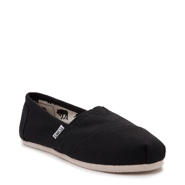 alternate view Womens TOMS Classic Slip On Casual Shoe - BlackALT1