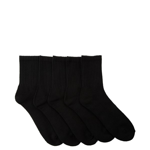 Mens Half Crew Socks 5 Pack - Black