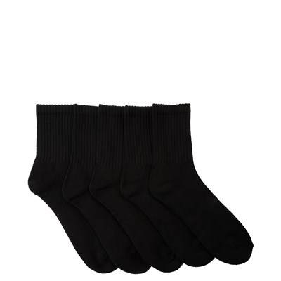 Alternate view of Mens Half Crew Socks 5 Pack - Black
