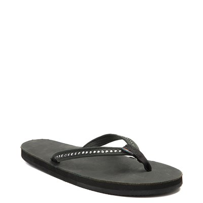 Alternate view of Womens Rainbow 401 Crystal Sandal - Black