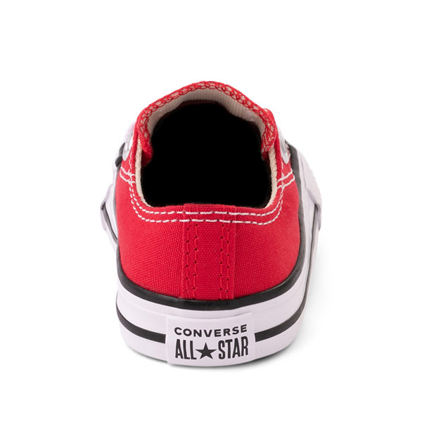 alternate view Converse Chuck Taylor All Star Lo Sneaker - Baby / Toddler - RedALT4