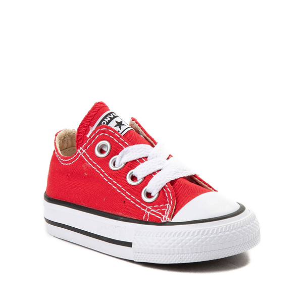 alternate view Converse Chuck Taylor All Star Lo Sneaker - Baby / Toddler - RedALT5