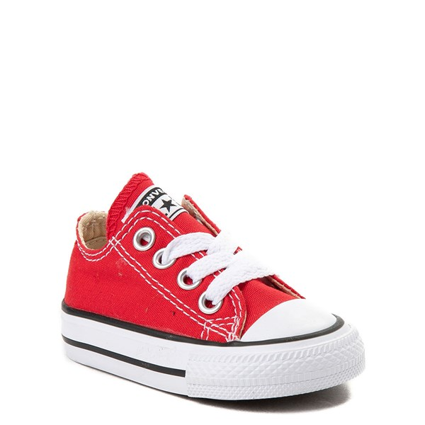 Alternate view of Converse Chuck Taylor All Star Lo Sneaker - Baby / Toddler - Red