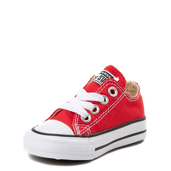 alternate view Converse Chuck Taylor All Star Lo Sneaker - Baby / Toddler - RedALT3