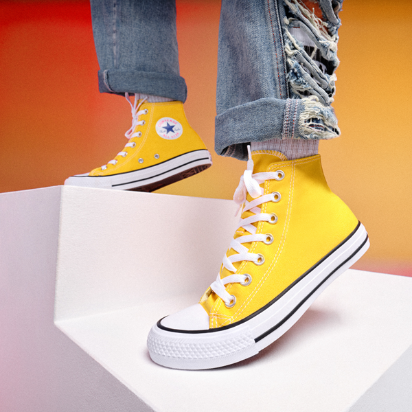 alternate view Converse Chuck Taylor All Star Hi Sneaker - Lemon ChromeALT1B