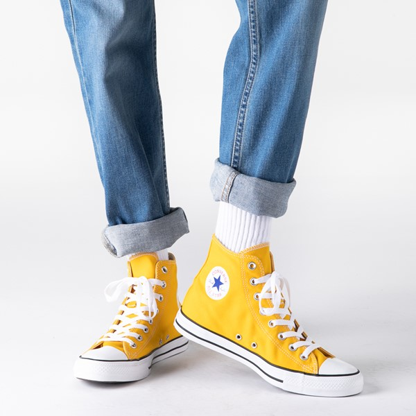 alternate view Converse Chuck Taylor All Star Hi Sneaker - Lemon ChromeB-LIFESTYLE1