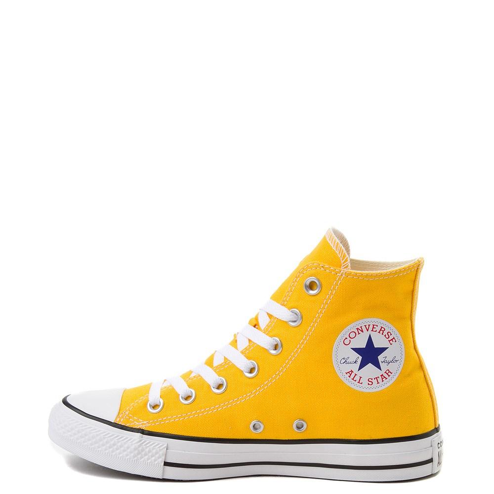 yellow high tops. love <3 | Gelbe converse, Turnschuhe und