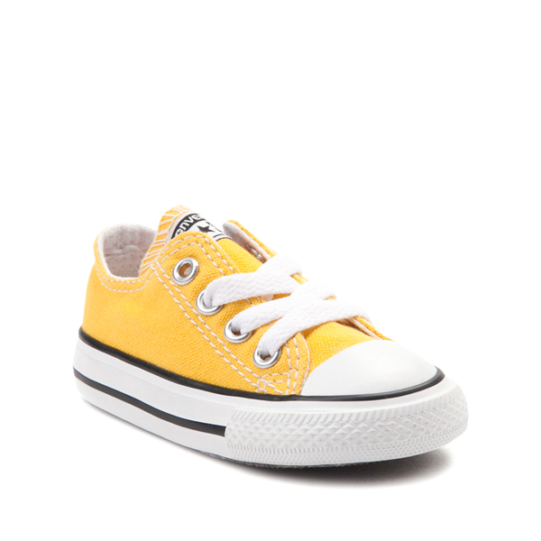 alternate view Converse Chuck Taylor All Star Lo Sneaker - Baby / Toddler - Lemon ChromeALT5