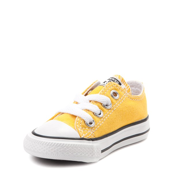 alternate view Converse Chuck Taylor All Star Lo Sneaker - Baby / Toddler - LemonALT3