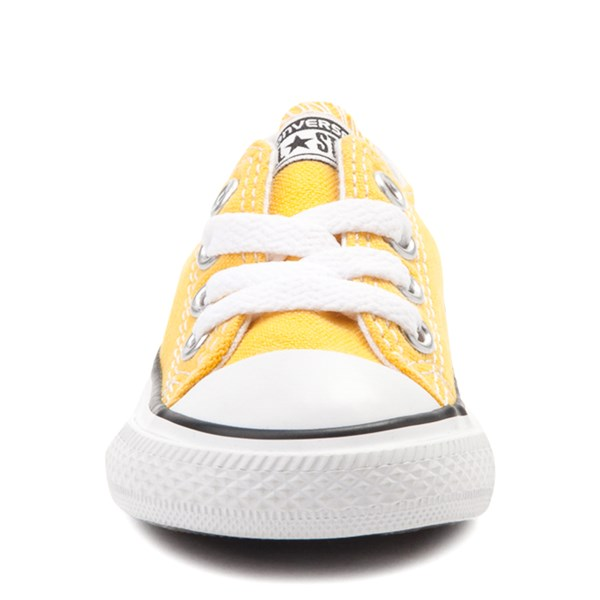 alternate view Converse Chuck Taylor All Star Lo Sneaker - Baby / Toddler - LemonALT4