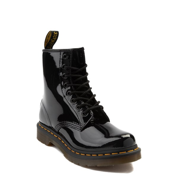 alternate view Womens Dr. Martens 1460 8-Eye Patent Boot - BlackALT1
