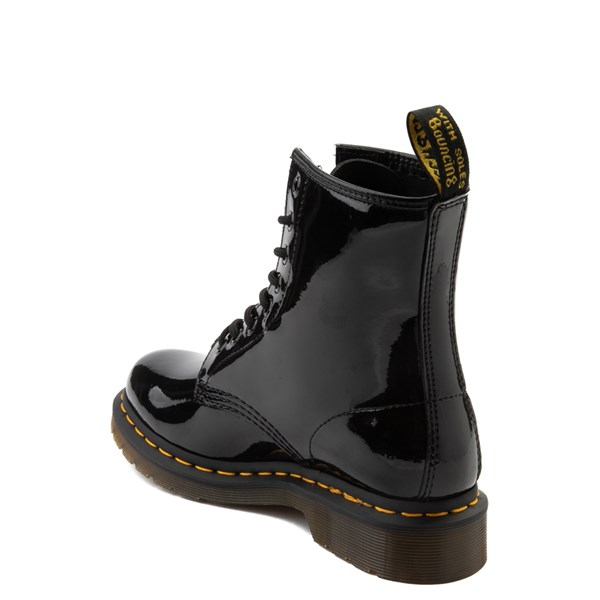 alternate view Womens Dr. Martens 1460 8-Eye Patent Boot - BlackALT2