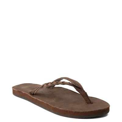 Alternate view of Womens Rainbow Flirty Braidy Sandal - Brown