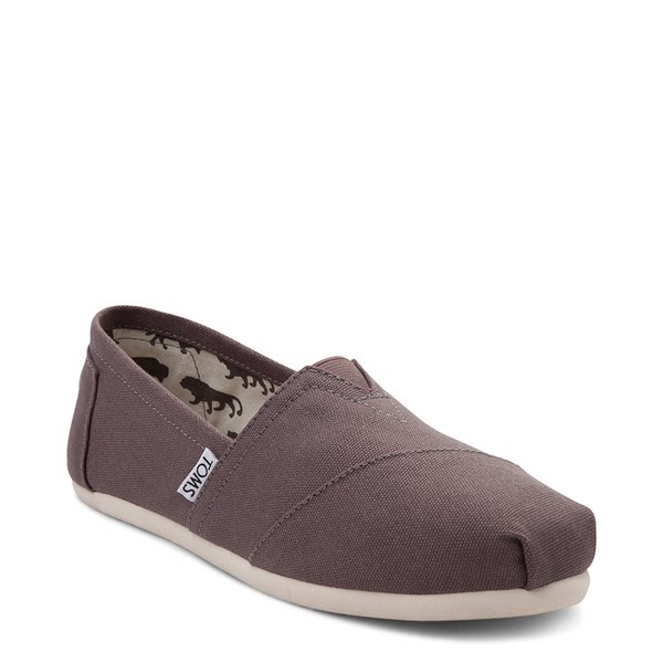 alternate view Womens TOMS Classic Slip On Casual Shoe - GrayALT1