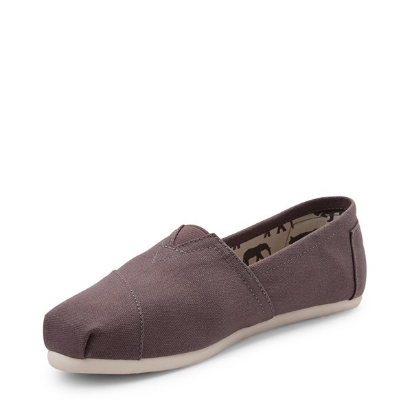 alternate view Womens TOMS Classic Slip On Casual Shoe - GrayALT3