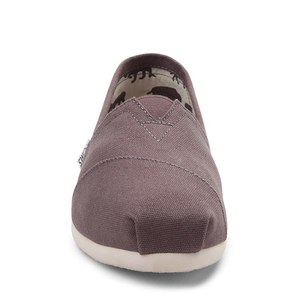 alternate view Womens TOMS Classic Slip On Casual Shoe - GrayALT4