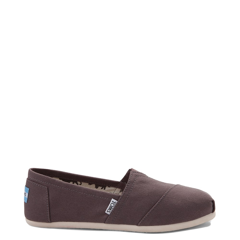 Womens TOMS Classic Slip On Casual Shoe - Gray