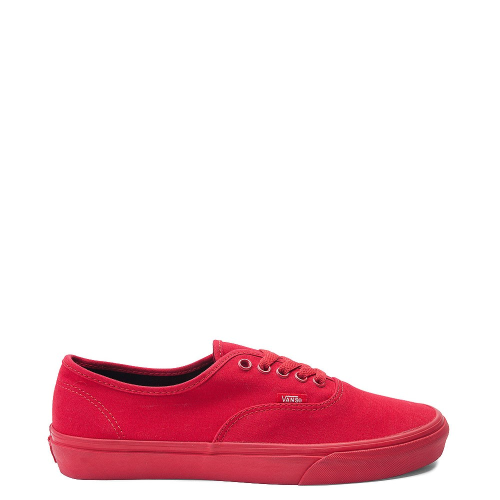 Vans Authentic Skate Shoe Red Monochrome