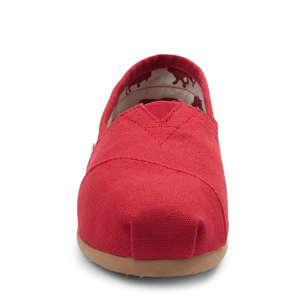 alternate view Womens TOMS Classic Slip On Casual Shoe - RedALT4