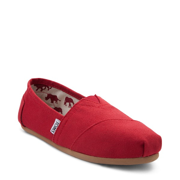 alternate view Womens TOMS Classic Slip On Casual Shoe - RedALT5