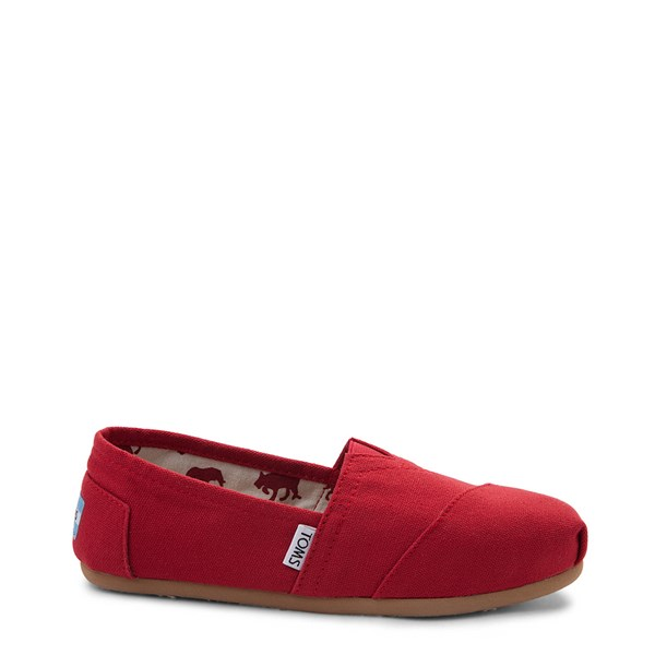 Main view of Womens TOMS Classic Slip On Casual Shoe - Red