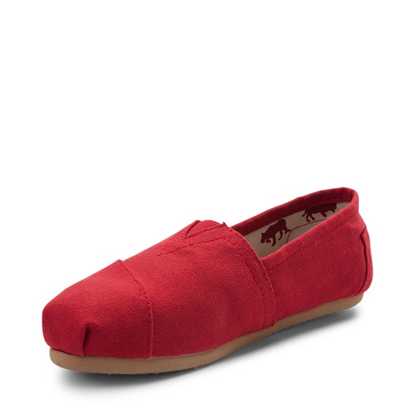 alternate view Womens TOMS Classic Slip On Casual Shoe - RedALT3