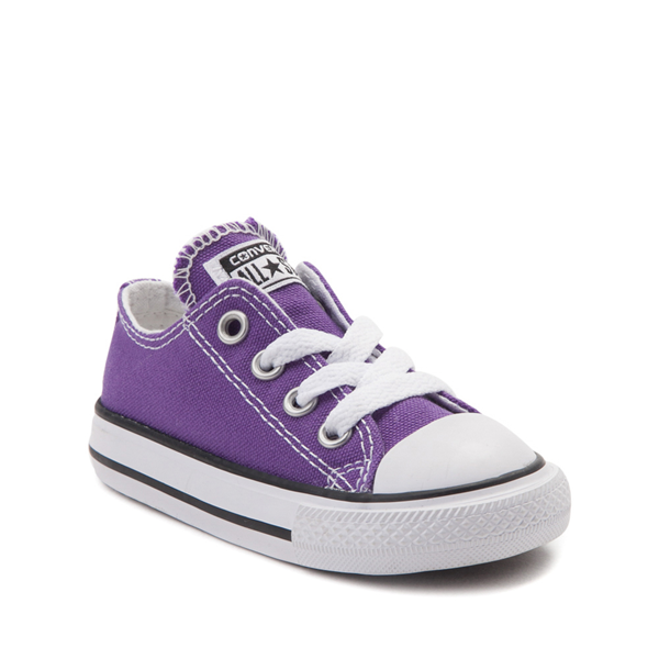 alternate view Converse Chuck Taylor All Star Lo Sneaker - Baby / Toddler - PurpleALT5
