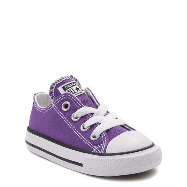 alternate view Converse Chuck Taylor All Star Lo Sneaker - Baby / Toddler - PurpleALT1