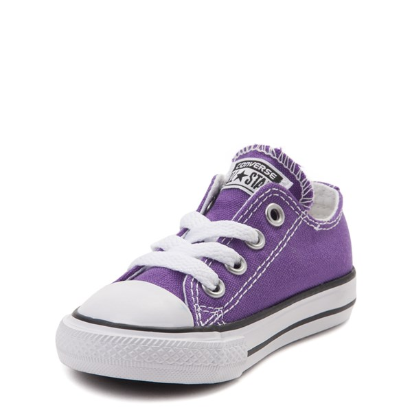 alternate view Converse Chuck Taylor All Star Lo Sneaker - Baby / Toddler - PurpleALT3