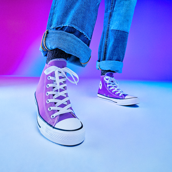 alternate view Converse Chuck Taylor All Star Hi Sneaker - Electric PurpleALT1B