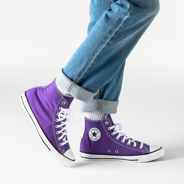 alternate view Converse Chuck Taylor All Star Hi Sneaker - Electric PurpleB-LIFESTYLE1