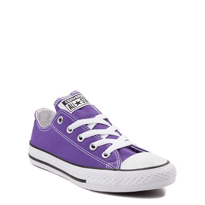Alternate view of Youth Purple Converse Chuck Taylor All Star Lo Sneaker