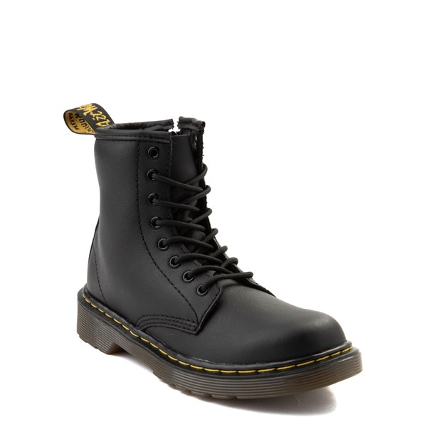 alternate view Dr. Martens 1460 8-Eye Boot - Little Kid / Big Kid - BlackALT1