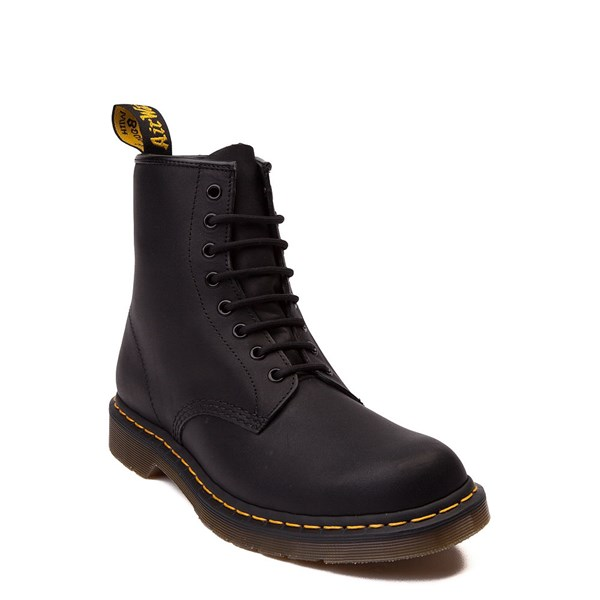 alternate view Dr. Martens 1460 8-Eye Greasy Boot - BlackALT1