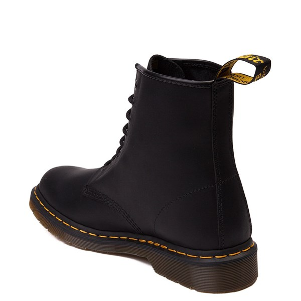 alternate view Dr. Martens 1460 8-Eye Greasy Boot - BlackALT2
