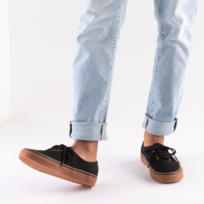 Vans Authentic Skate Shoe - Black / Gum   Journeys