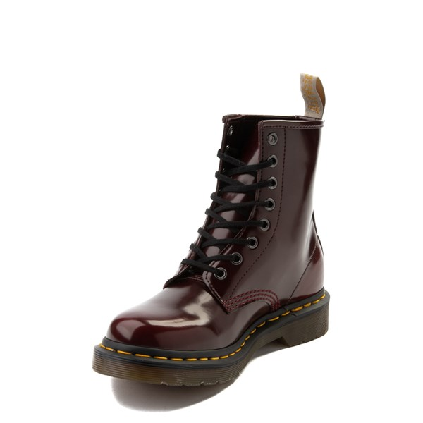 alternate view Womens Dr. Martens 1460 8-Eye Vegan Boot - RedALT3
