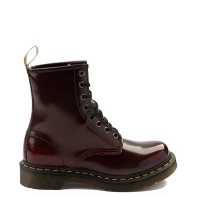 Main view of Womens Dr. Martens 1460 8-Eye Vegan Boot - Red