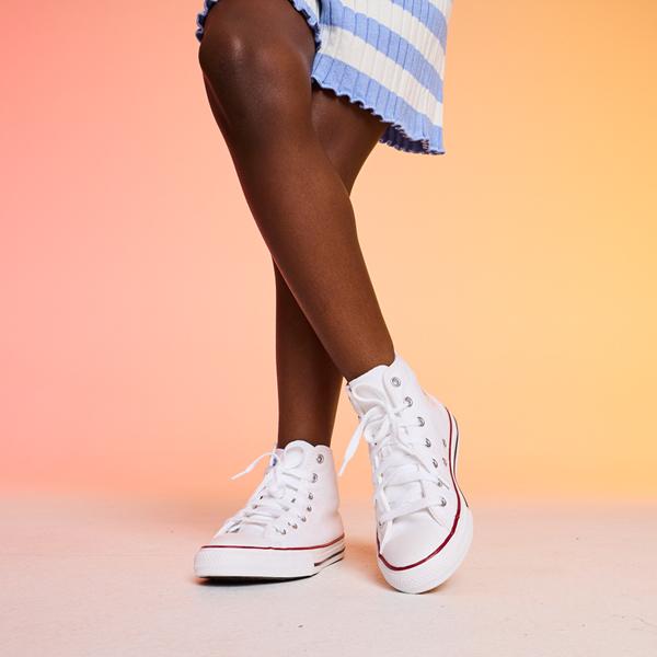 alternate view Converse Chuck Taylor All Star Hi Sneaker - Little Kid - WhiteALT1C